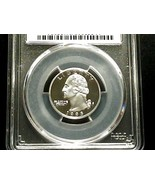 1995-S Silver Proof Quarter PCGS PR70DCAM Deep Cameo - $91.11
