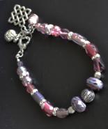 Boho Colourful bracelet, Beaded Bracelet, Celtic Knot Bracelet, Glass (B... - $24.99
