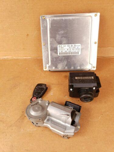 03 Mercedes W203 C240 ECU Engine Computer EIS Ignition FOB ISL Set A1121532979