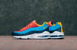 Nike Air Max 95 Now Youth Size 4.0 Same As Woman 5.5 Crimson New Rare Comfort - $119.99