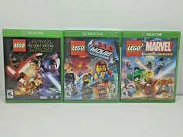 LEGO Movie, Star Wars the Force Awakens & Marvel Super Heroes Xbox One G... - $26.72