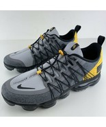 Nike Air Vapormax Run Utility Black Size 12.5 Mens Wolf Grey Amarillo Ru... - $179.95
