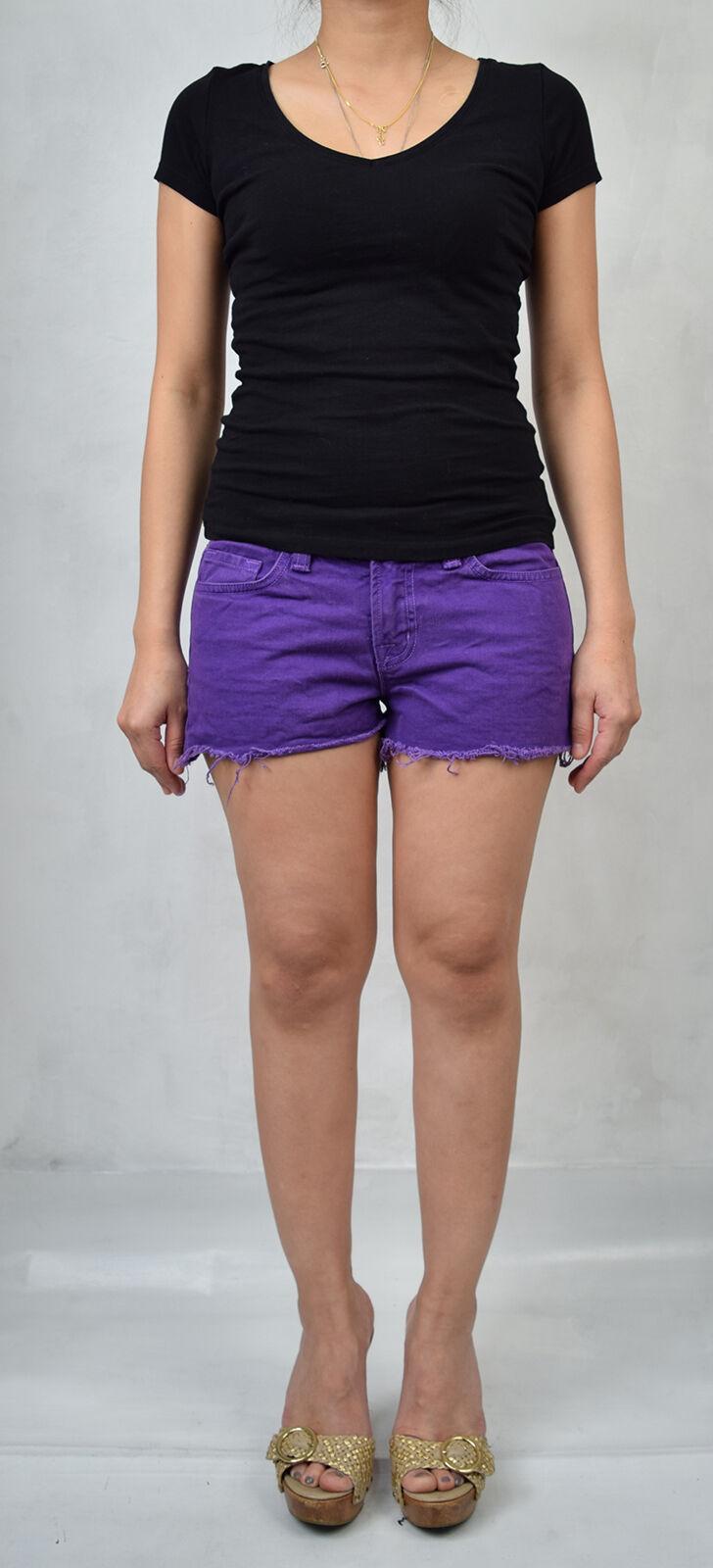 J Brand 7037 Bright Purple Cut Off Short Jeans 26 Womens USA image 2