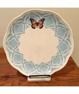 Lenox Butterfly Meadow Orange Butterfly Light Blue Scalloped Border Plate - $18.69