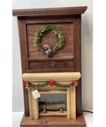 Wood Dollhouse Lightup Miniature Fireplace Mantel by Great Road Woodwork... - $64.30
