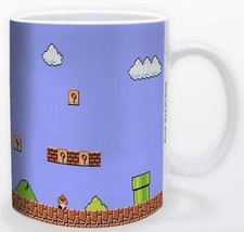 Retro Super Mario Bros Game Title Screen 11oz Gamer Coffee Mug Licensed ... - $15.83