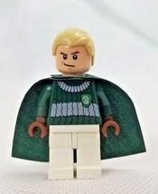Lego Harry Potter Draco Malfoy Mini Figure Quidditch Uniform 4737 - $6.99