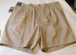 Roundtree & Yorke Travel Smart Mens Shorts 52 Big Man Classic Fit Pleate... - $29.39