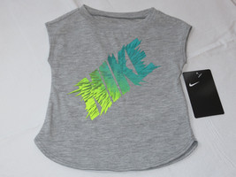Nike active The Nike TEE t shirt youth girls 12M baby 16B375 042 grey ht... - $15.43