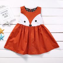 NWT Girls Orange Fox Sleeveless Dress 18 M 2T 3T 4T - $10.99