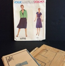 Vogue American Pattern 2445 10 Top Skirt Jacket Kasper Vtg Sewing Loose Fit - $15.22