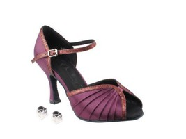 Very Fine Ladies Women Ballroom Dance Shoes EKSERA3830 Purple Satin & Pu... - $65.95