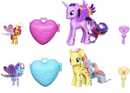 My Little Pony Twilight Sparkle and Fluttershy Locket Breezie Friends 2... - $19.95