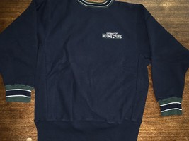 Champion Notre Dame Irish Sweatshirt sz L ND REVERSE WEAVE Green USA Exc... - $42.75