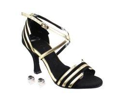 Very Fine Ladies Women Ballroom Dance Shoes EKSERA1700 Black Suede & Light Go... - $65.95