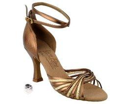 Very Fine Ladies Women Ballroom Dance Shoes EKS1001 Gold Scale & Dark Tan Gol... - $67.95