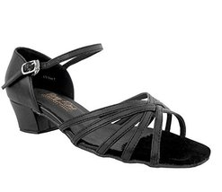 "EKF208 VFS Ladies Dance Shoes Black Leather 1.5"" (7M) - $64.95"