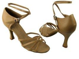 Ladies Women Ballroom Dance Shoes for Latin Salsa Tango SERA1606 Beige Brown ... - $65.95
