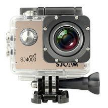 sjcam sj4000 wifi 1080p water resistant sports camera waterproof shell gold - $99.99