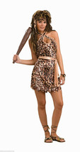 STONE AGE STYLE CAVE BEAUTY CAVE WOMAN ADULT HALLOWEEN COSTUME SIZE STAN... - $21.15