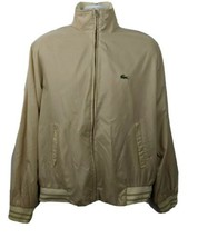 IZOD Lacoste Vintage Beige Light Nylon Jacket Mens Size L - $59.39