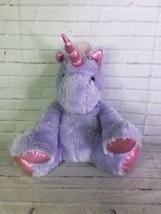 Best Made Toys Purple Pink Sparkle Eyes Unicorn Large Stuffed Animal Plush Toy - $39.59