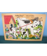 RARE Vintage Fisher Price Pick-Up and Peek #2713 Dog and Puppies Puzzle ... - $24.99