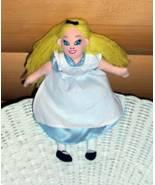 "Disney Alice in Wonderland in Soft Blue & White Apron Dress Plush Beans 8"" - $8.49"