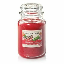 Yankee Candle Christmas Candy Large Jar Candle Housewarmer Holiday Gift ... - $34.65