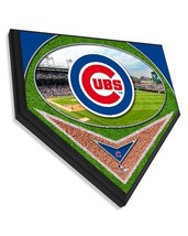 """Chicago Cubs Officially Licensed Team Logo 11.5"""" x 11.5"""" Home Plate Plaque  - $40.95"""