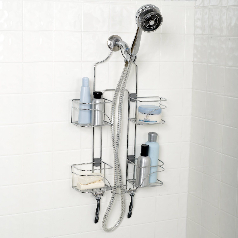 Zenith Products Expandable Shower Caddy,Storage,Organize,Spa, Bath,Shelf, Chrome