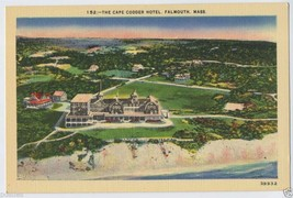 1930's The CAPE CODDER Hotel FALMOUTH Mass. CAPE COD Massachusetts MA PO... - $4.75