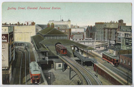 1900s BOSTON Mass. DUDLEY Street Elevated Terminal Sta. Trolley ROXBURY ... - $7.00