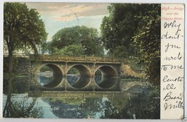 1900's Arched BRIDGE Charles River BOSTON Area Mass. Massachusetts MA Po... - $5.95