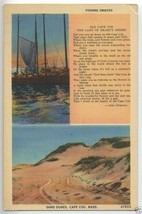 1940's CAPE COD Fishing Shacks SAND DUNES Chipman Poem MA Massachusetts ... - $5.95