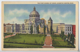 1936 BOSTON Mass First CHURCH of Christ Science CHRISTIAN SCIENTIST MA P... - $5.95