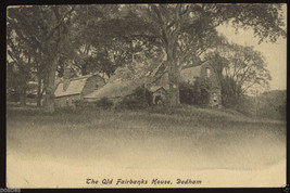 Vintage DEDHAM Mass. FAIRBANKS House Built 1636 Massachusetts 1900's Pos... - $4.99