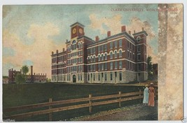 1900's WORCESTER Clark University College Buildi MA Mass. Massachusetts ... - $4.95
