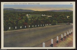 1940's French King Bridge Highway GREENFIELD MASSACHUSETTS MA Linen Post... - $4.99