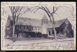1903 MALDEN Mass. Converse Memorial LIBRARY Victorian Massachusetts MA P... - $4.95