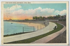 1933 Lynn Shore Drive & Beach LYNN Mass. MA Massachusetts POSTCARD - $4.95