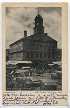 1906 BOSTON Mass FANEUIL Hall Vintage MA MASSACHUSETTS Grocery Wagons Po... - $5.95