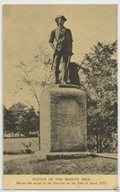1900s CONCORD Minute Man Statue Mass. Massachusetts MA POSTCARD - $3.95