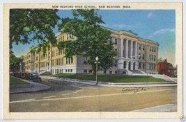 1920s NEW BEDFORD High School COURT St County St Mass. Massachusetts MA ... - $4.95
