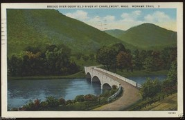1933 Charlemont MASSACHUSETTS Deerfield River Bridge MOHAWK Trail MA Pos... - $5.95