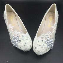 Wedding Heels,Bridal Heels,Wedding Wedges,low wedge,Brides Wedding Wedge Shoes - $48.00+