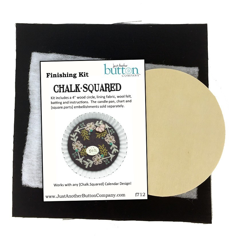 February Chalk Squared cross stitch chart Hands On Design Just Another Button