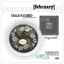 February Chalk Squared cross stitch chart Hands On Design Just Another B... - $6.50