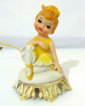 Vintage Aladdin Giftware Porcelain Figurine Lamp Night Light Girl with P... - $37.44
