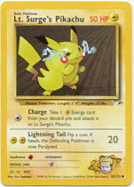 Lt. Surge's Pikachu 81/132 Common Gym Heroes Pokemon Card